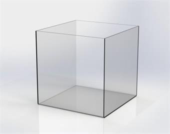 Glasklar Plexibox 100x100x100