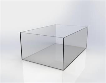Plexiglaslåda - 280x400x160mm
