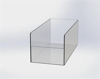 Plexilåda 180x400x160/90mm